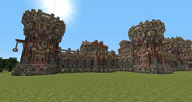 Minecraft Stone Wall Designs Google Sk 1 17 Diamonds Build Up On The Design It Should Look Like This Simple Medieval Castle Wall Gate Design Ideas Design Ideas