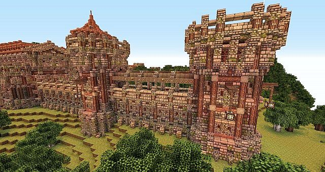 how to build a castle wall in minecraft