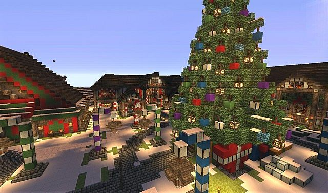 Christmas Minecraft World.The North Pole Santa S Secret Village Map For Minecraft