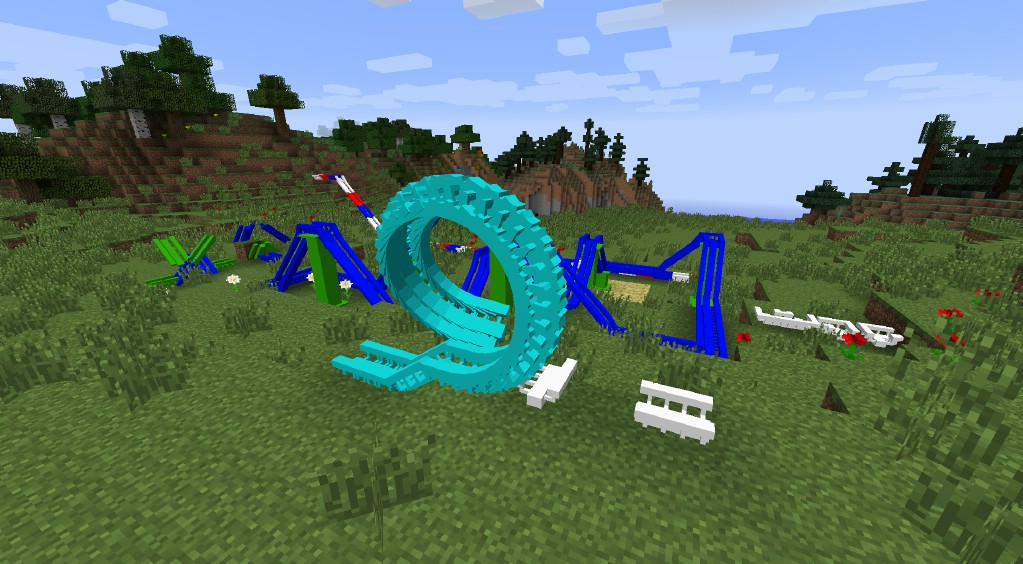 How To Build A Roller Coaster In Minecraft Easy