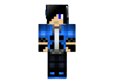 Black haired blue creeper boy skin file minecraft black haired blue creeper boy sking sciox Images