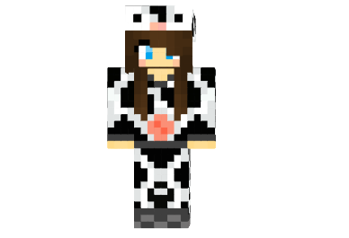 Cow Suit Girl Skin FileMinecraftcom - Skin para minecraft pe cow